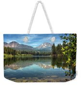 Mount Lassen From Manzanita Lake Weekender Tote Bag