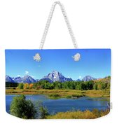 Mount Moran, Grand Tetons National Park, Wyoming  Weekender Tote Bag