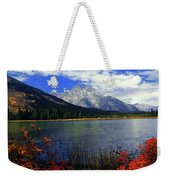 Mount Moran In The Fall Weekender Tote Bag