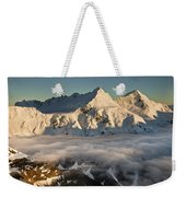 Mount Pollux And Mount Castor At Dawn Weekender Tote Bag