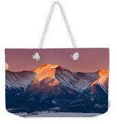 Mount Princeton Moonset At Sunrise Weekender Tote Bag
