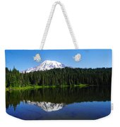 Mount Rainer Reflecting Into Reflection Lake Weekender Tote Bag
