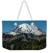Mount Rainier - Cowilitz Chimneys  Weekender Tote Bag