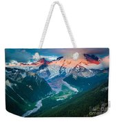 Mount Rainier And White River Weekender Tote Bag