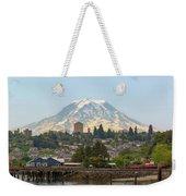 Mount Rainier At Tacoma Waterfront Weekender Tote Bag