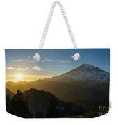 Mount Rainier Dusk Fallen Weekender Tote Bag