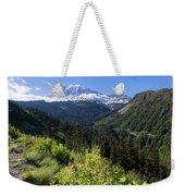 Mount Rainier From Scenic Viewpoint Weekender Tote Bag