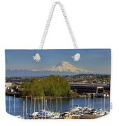 Mount Rainier From Thea Foss Waterway In Tacoma Weekender Tote Bag