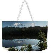 Mount Rainier Reflection Lake W/ Tree Weekender Tote Bag