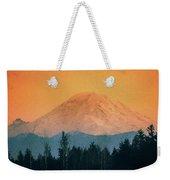 Mount Rainier, Sunset Weekender Tote Bag