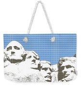 Mount Rushmore - Blue Weekender Tote Bag