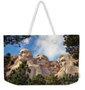 Mount Rushmore National Memorial In The Black Hills Of South Dakota  Weekender Tote Bag by Sam Antonio Photography