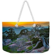 Mount Scott Sunset Weekender Tote Bag
