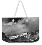 Mount Shasta In Black And White Weekender Tote Bag