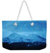 Mount Shasta Twilight Weekender Tote Bag