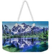 Mount Shuksan And Picture Lake Weekender Tote Bag