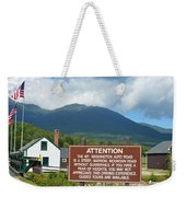Mount Washington Nh Warning Sign Weekender Tote Bag