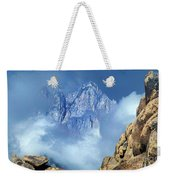 Mount Whitney Clearing Storm Eastern Sierras California Weekender Tote Bag