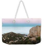 Mount Woodson Moonset Weekender Tote Bag