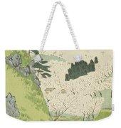 Mount Yoshino, Cherry Blossoms Weekender Tote Bag