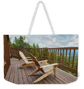 Mountain Adirondack Chairs Weekender Tote Bag