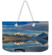 Mountain And Driftwood Reflections Weekender Tote Bag