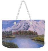 Mountain And Lake Weekender Tote Bag