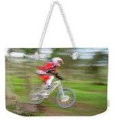 Mountain Bike Rider Weekender Tote Bag