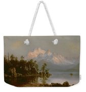 Mountain Canoeing Weekender Tote Bag