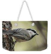 Mountain Chickadee Weekender Tote Bag