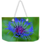 Mountain Cornflower Weekender Tote Bag by Byron Varvarigos