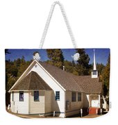 Mountain Crossroads Church Building Weekender Tote Bag