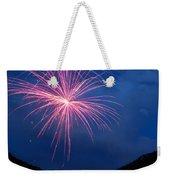 Mountain Fireworks Landscape Weekender Tote Bag
