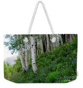 Mountain Flowers And Aspen Weekender Tote Bag