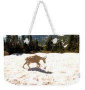 Mountain Goat Crossing A Snow Patch Weekender Tote Bag