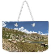 Mountain Goats At Columbine Lake - Weminuche Wilderness - Colorado Weekender Tote Bag