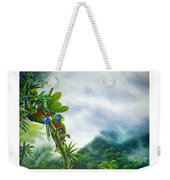 Mountain High - St. Lucia Parrots Weekender Tote Bag