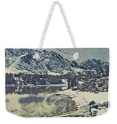 Mountain Lake, California Weekender Tote Bag