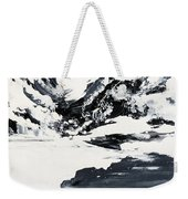 Mountain Lake In Black And White Weekender Tote Bag