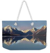Mountain Lake Reflection Weekender Tote Bag