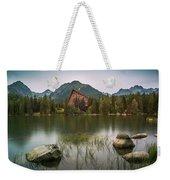 Mountain Lake Under Peaks Weekender Tote Bag