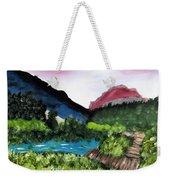 Mountain Lake Walk Weekender Tote Bag