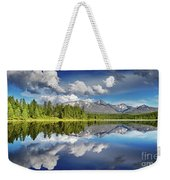 Mountain Lake With Reflection Weekender Tote Bag