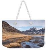 Mountain Landscape Iceland Weekender Tote Bag