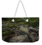 Mountain Landscape With A Creek Weekender Tote Bag