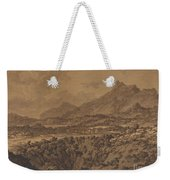 Mountain Landscape With A Hollow Weekender Tote Bag