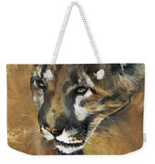 Mountain Lion - Guardian Of The North Weekender Tote Bag by J W Baker