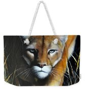 Mountain Lion In Tall Grass Weekender Tote Bag