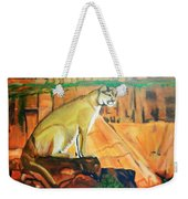 Mountain Lion In Thought Weekender Tote Bag