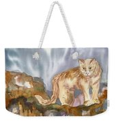 Mountain Lion On The Rocks  Weekender Tote Bag